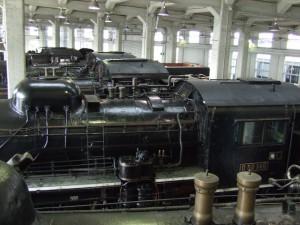 貴重な蒸気機関車が多数展示