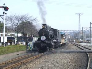実際に走行できる蒸気機関車スチーム号