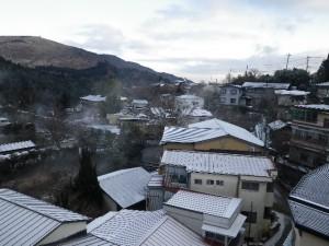筋湯温泉ホテル花草原客室からの眺望